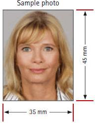 Sample Passport Photo for Germany Visa