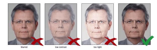 Schengen Visa Photo Requirements - Focus and Contrast