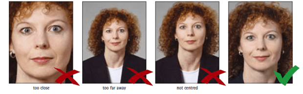 Schengen Visa Photo Requirements Illustration