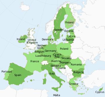 Map of EU Member Countries