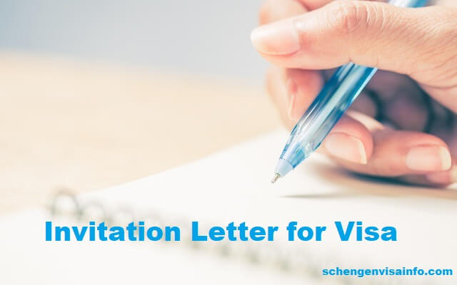 Letter of Invitation for any type of Visa