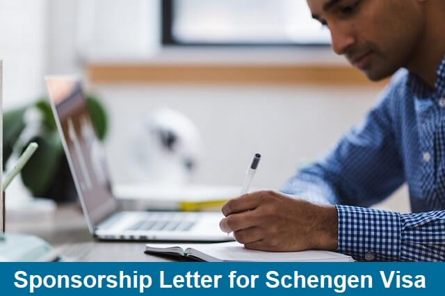 sponsorship letter for schengen visa application