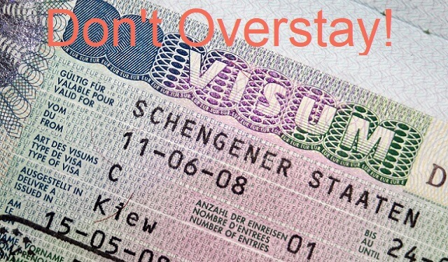 The consequences of having an overstaying Schengen Visa