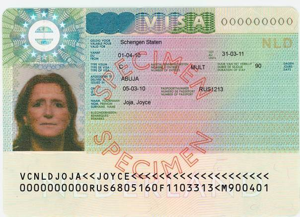 How To Read A Schengen Visa Sticker Schengenvisainfo Com