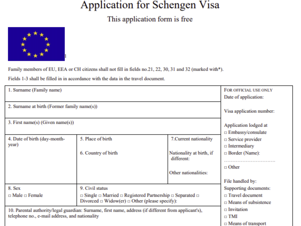 SchengenApplication_SocialPreview Visa Application Form Belgium Emby on